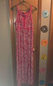 Red maxi dress inc brand